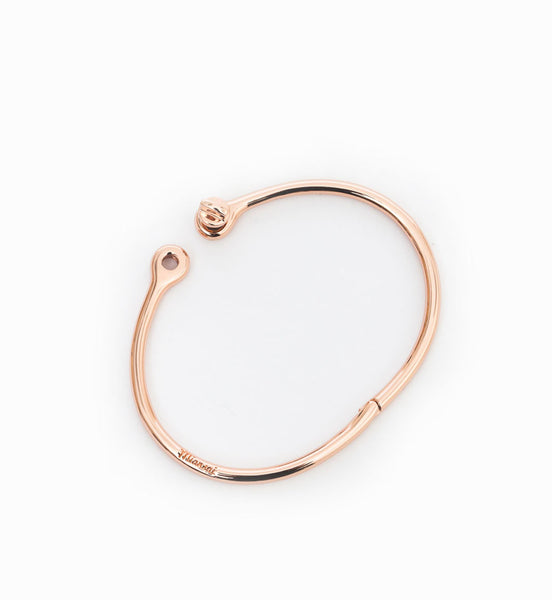 Rose Gold Thin Reeve Cuff: Open