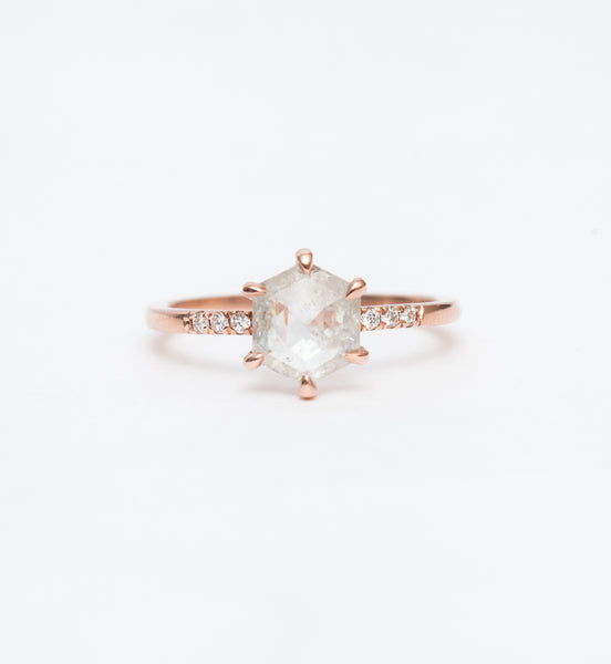 Grey Hexagon Diamond Jules Ring