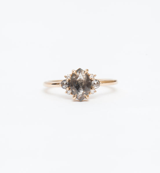 Grey Marquise Diamond Charlotte Ring