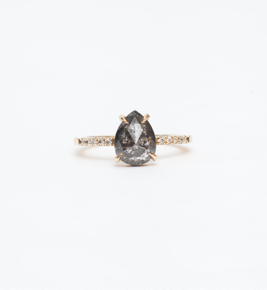 Grey Pear Diamond Jules Ring