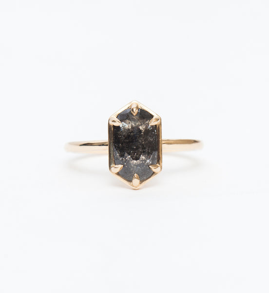 Grey Oval Diamond Jane Ring