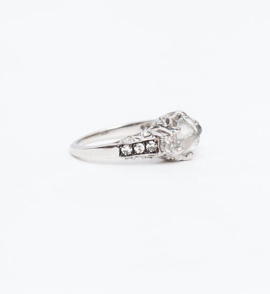 Rustic White Diamond Ceremonial Ring