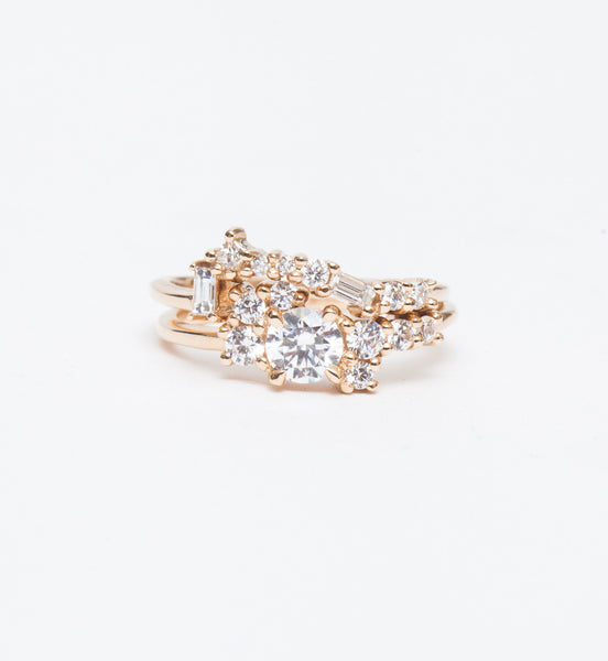 Burst Cluster Diamond Ring