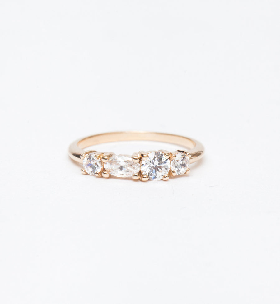 Linear Diamond Ring
