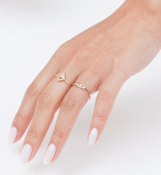 Diamond Milli Ring: Worn