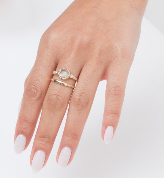 Gold Segment Ring: Worn