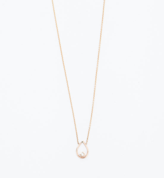 Open Tear Diamond Necklace