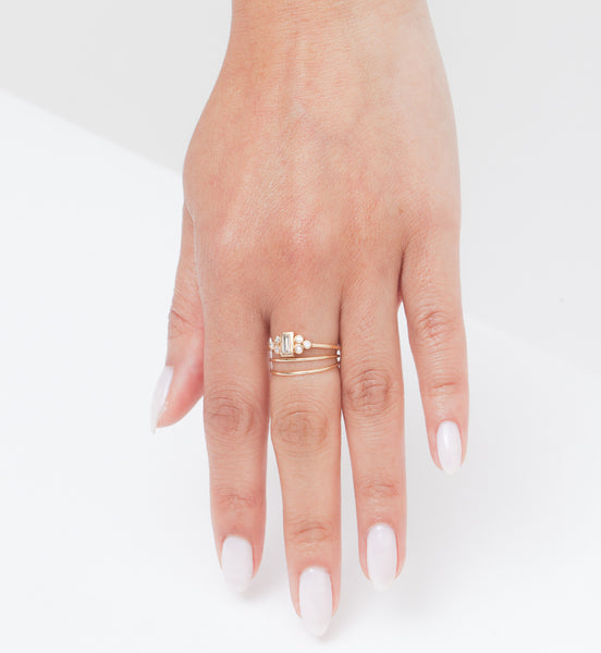 Ophelia Baguette Ring: Worn