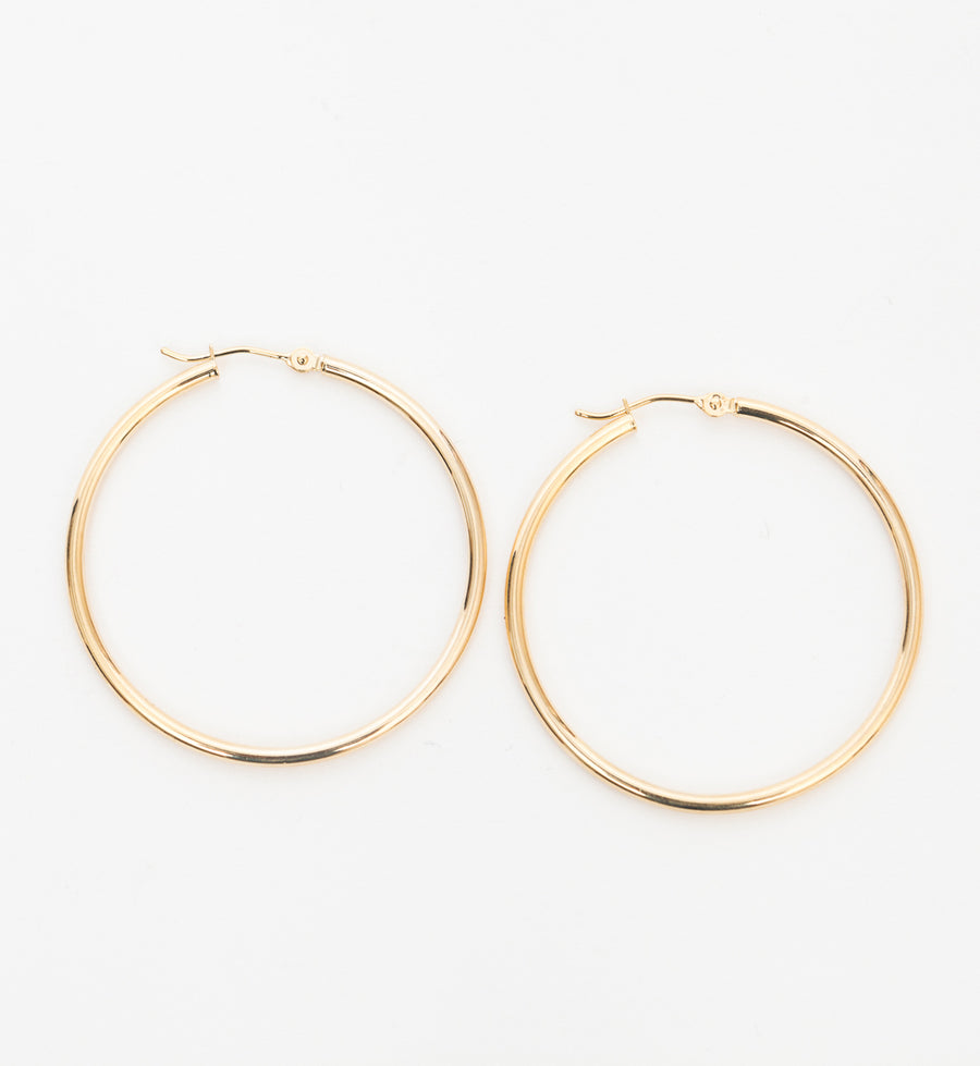 40 mm Hinged Hoop Earrings