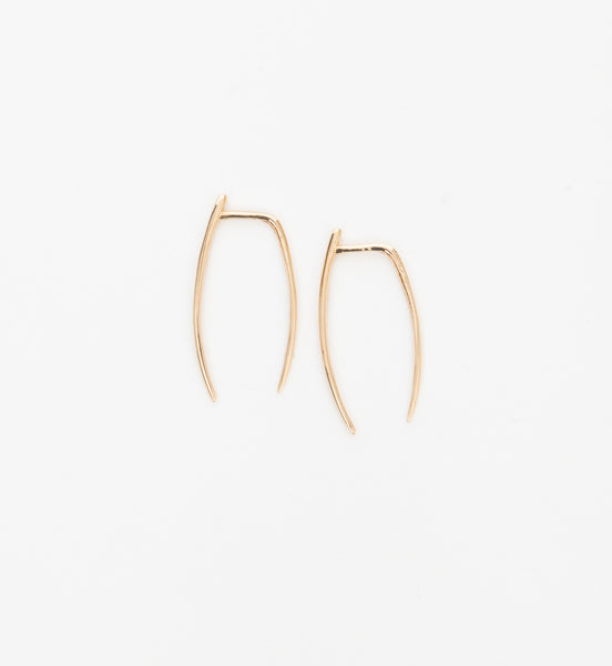 Gold Large Infinite Tusk Earrings