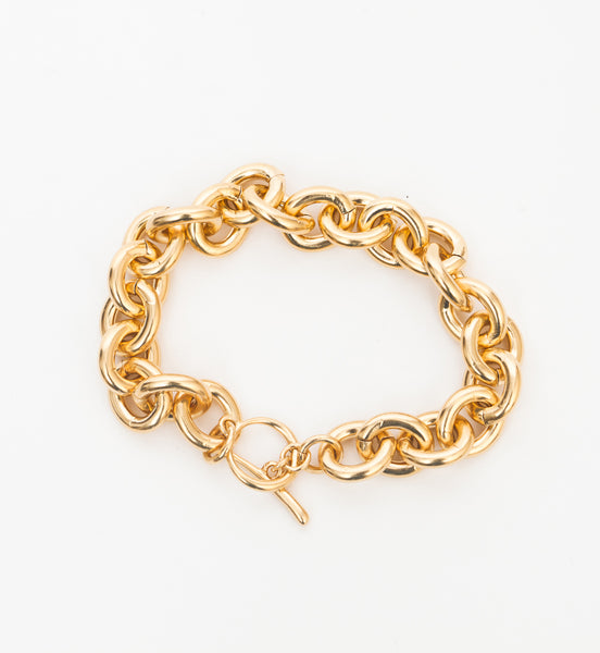 Chain Bracelet with Tusk Clasp