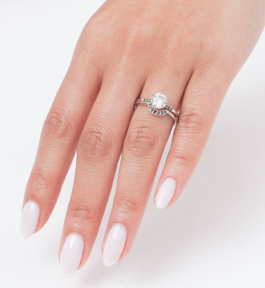 Tiny Crescent Ring: Worn