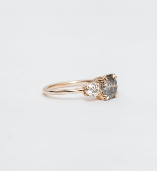 Grey Diamond Eleonore Three-Stone Ring