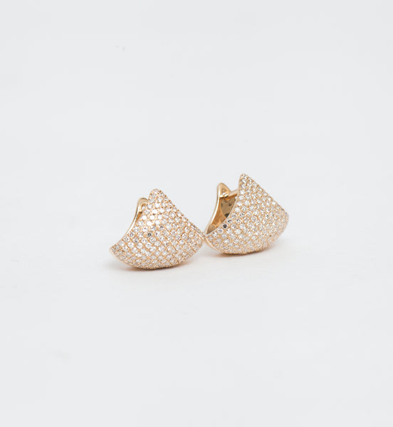 Pavé Small Apse Earrings