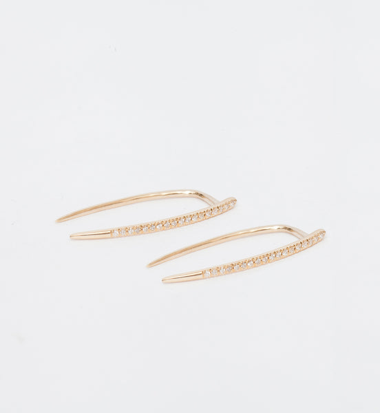 Pavé Large Infinite Tusk Earrings