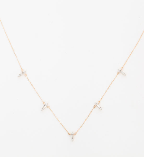 Stack Baguette Chain Necklace