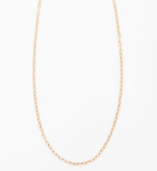 Small Square Oval Link Chain Necklace