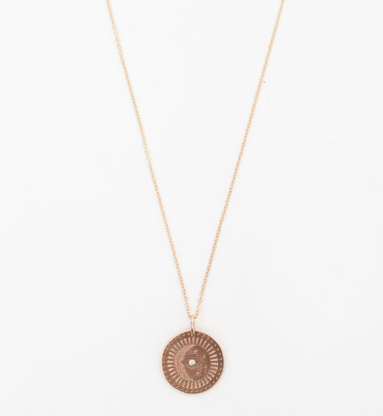 Small Celestial Protection Medallion Necklace