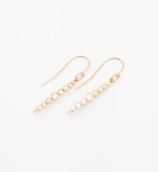 Graduated Diamond Drop Earrings