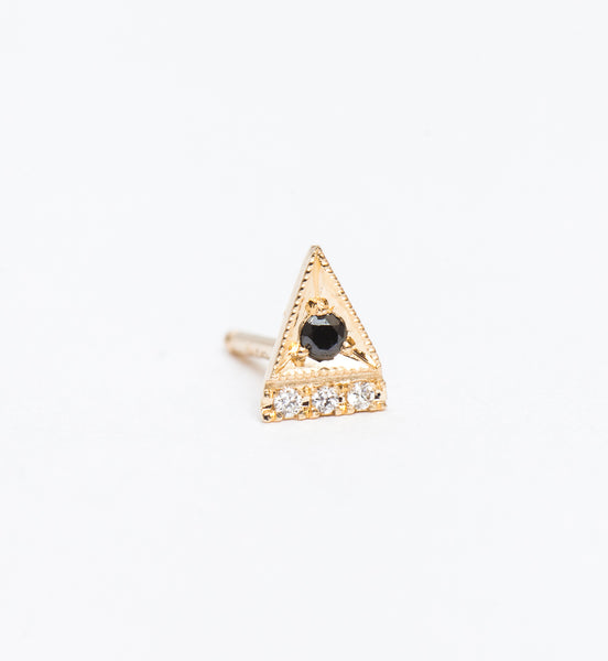 Black Diamond Deco Point Triangle Stud