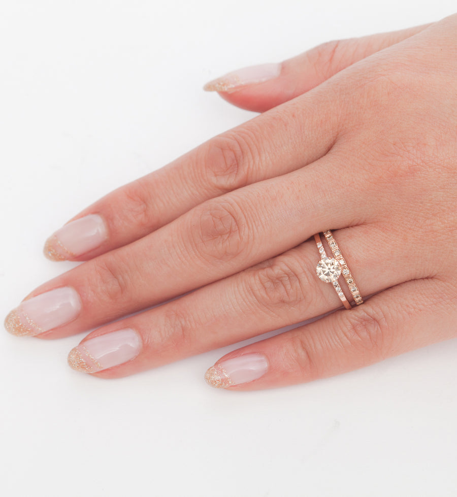 Champagne Diamond Wheat Eternity Band