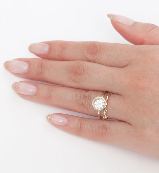 Crescent Diamond Ring