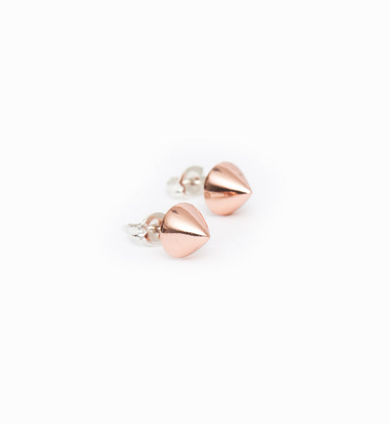 Rose Gold Vivienne Spike Studs