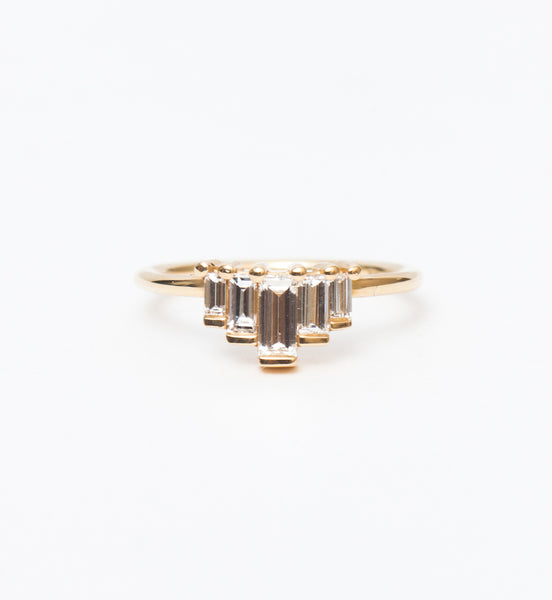 Medium Five Baguette Diamond Ring