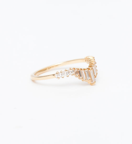 Art Deco Tiara Wedding Ring