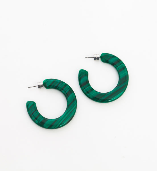 Malachite Kate Hoops