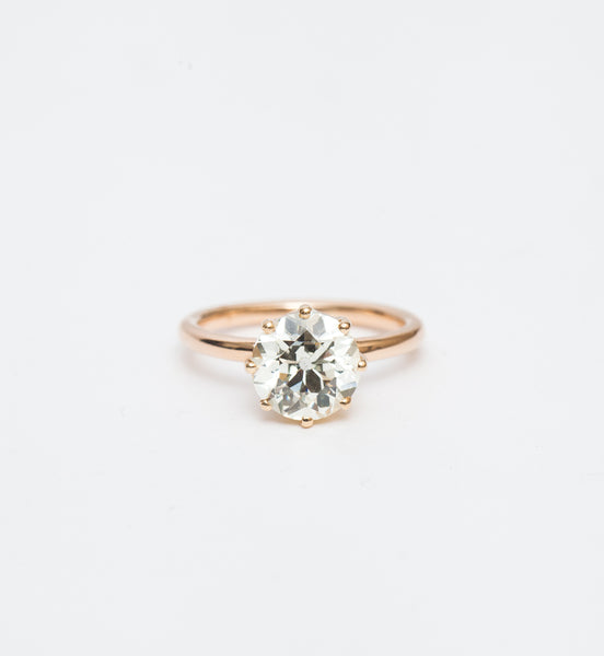 2.32 ct Old European Victorian Solitaire Ring