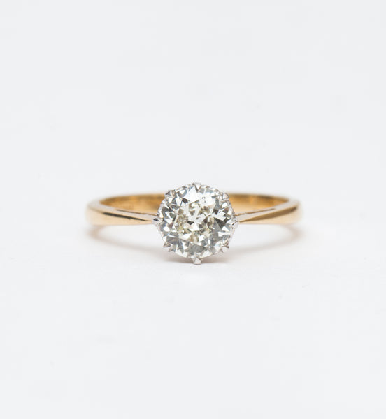0.94 ct Old European English Solitaire