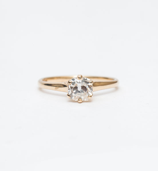 0.97 ct Old Mine Cushion Solitaire