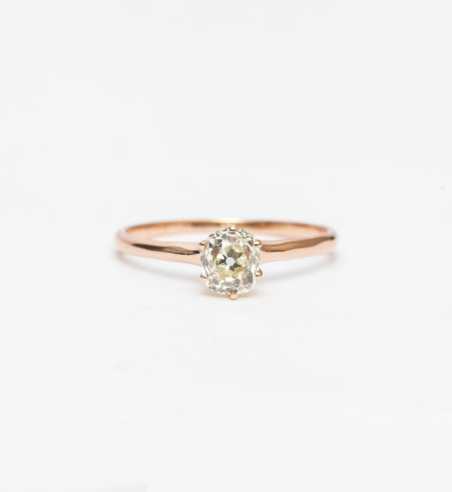 0.82 ct Old Mine Cushion Solitaire