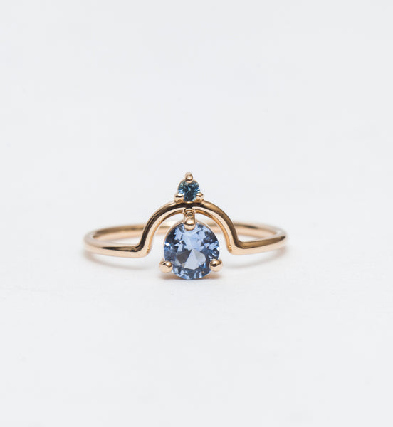 Medium Nestled Sapphires Ring