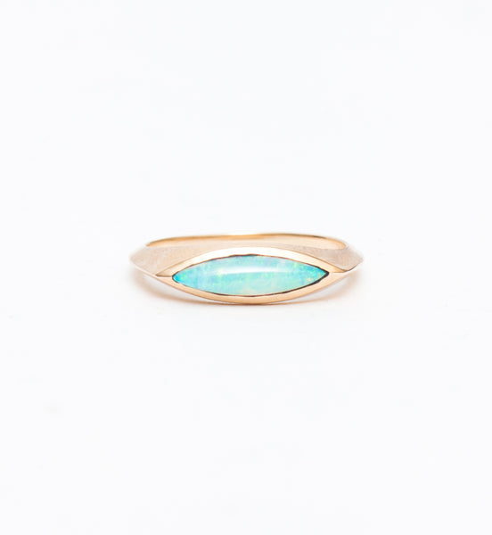 Opal Eye Signet Ring