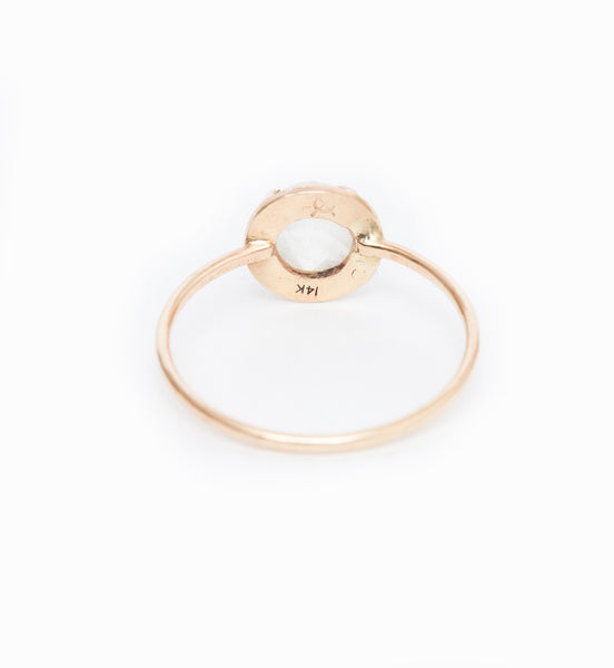 Moonstone Alba Etruscan Ring: Back