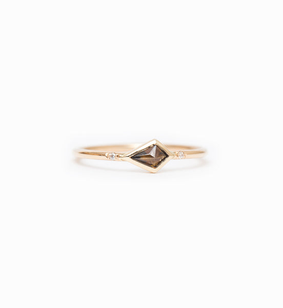 Cognac Kite Diamond Ring: Front