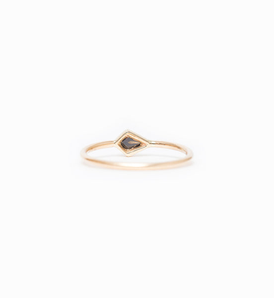 Cognac Kite Diamond Ring: Back