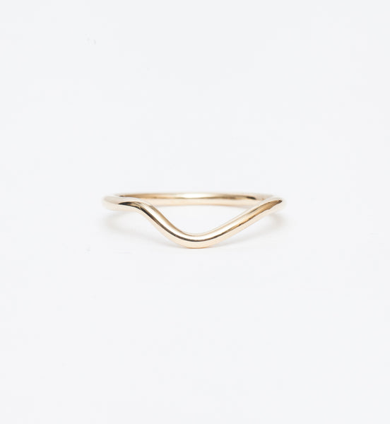 Petite Double Tapered Baguette Ring: Front