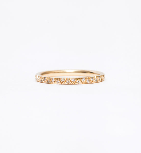 Geometric Pattern Eternity Band