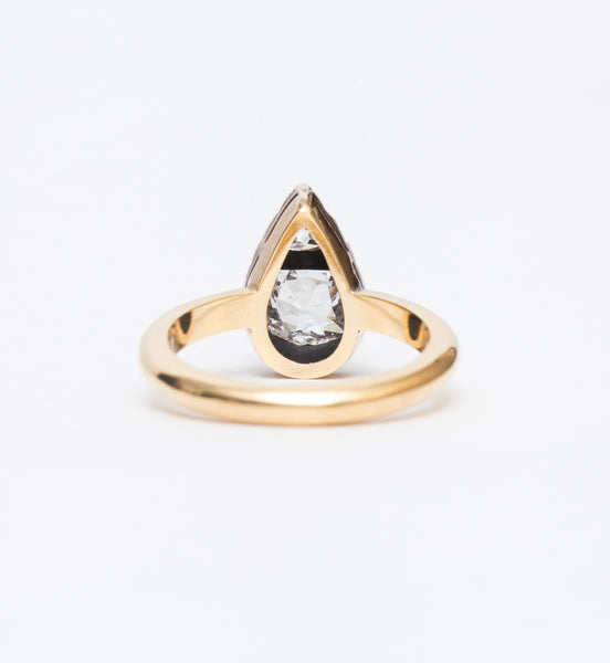 Tate Two-Stone Antique Mounting Ring
