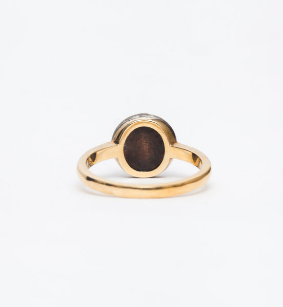 Janie Round Antique Mounting Ring
