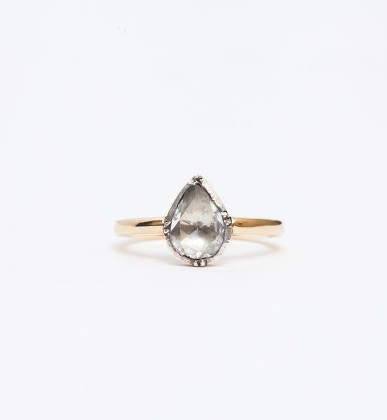 Janie Pear Antique Mounting Ring