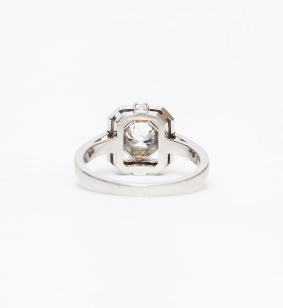 Katie Art Deco Halo Ring