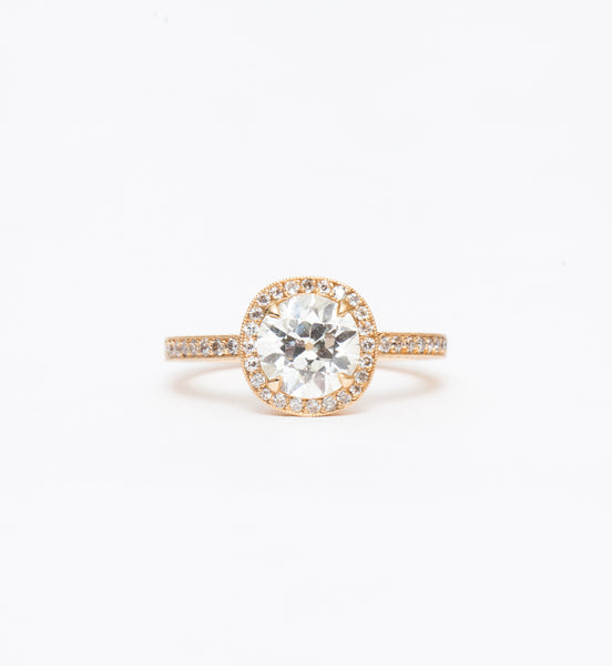 Celine Halo Filigree Ring