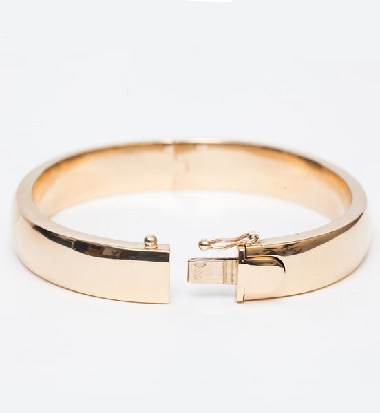 10 mm Square Plain Bangle