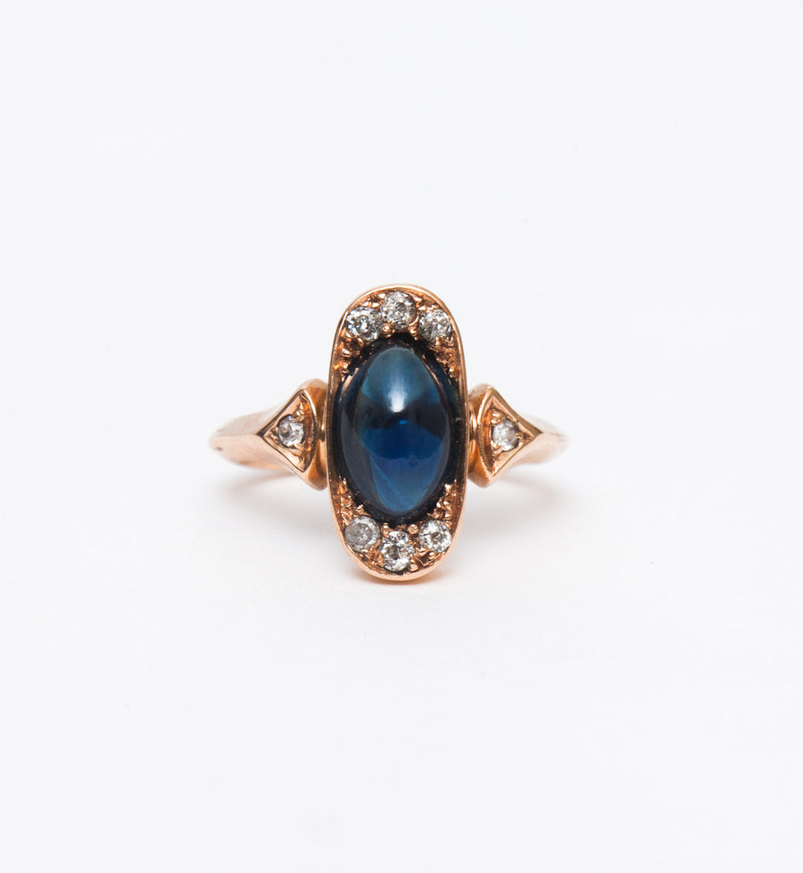 Sapphire Cabochon Cocktail Ring