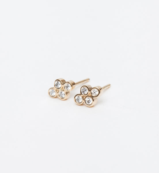 Small Quad Diamond Studs