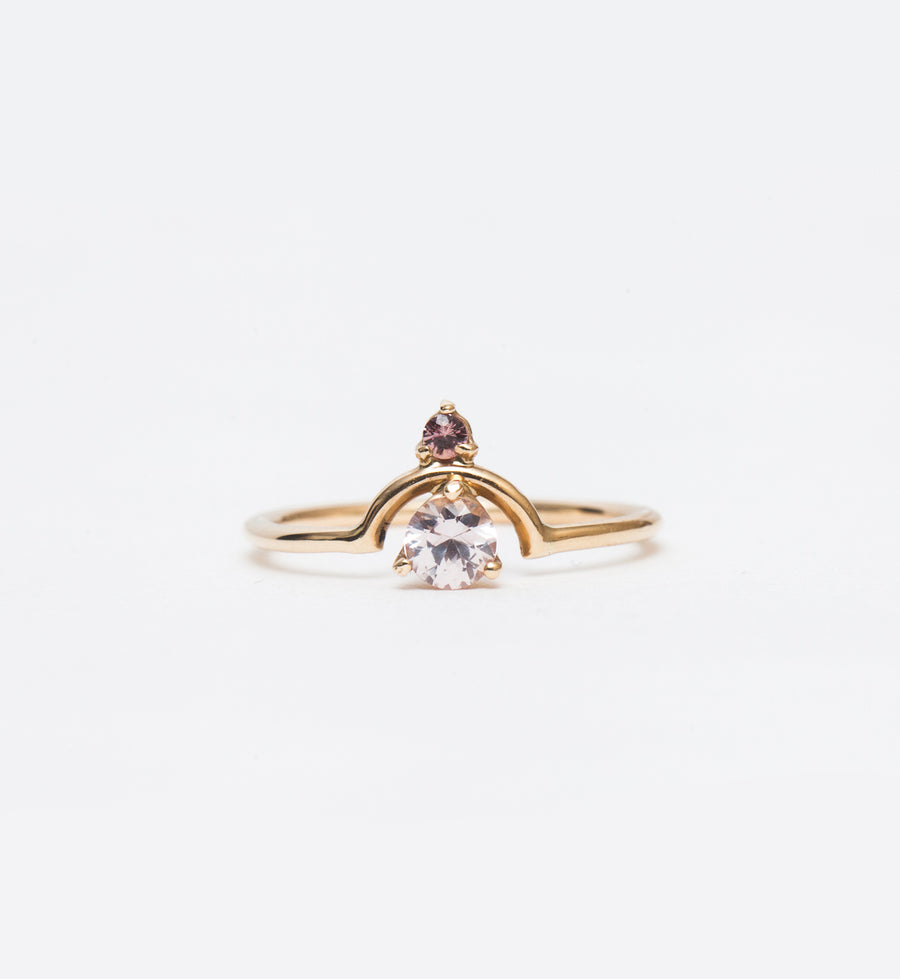 One-of-a-Kind Small Nestled Pink Sapphires Ring